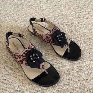 Ellen Tracy  Lila leather  sole sandal 7.5 size
